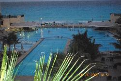 view of pool from our balcony area