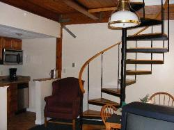 Spiral Staircase To Second Floor in Townhouse Unit
