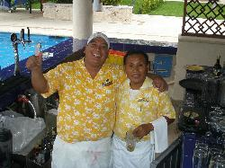 2 of the awesome Dreams bartenders, Jaysson & Manuel