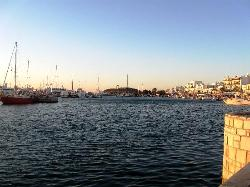 harbour and Portara