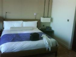 bed area (ask for firmer pillows)