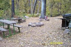One of the main firepits for the residents to use
