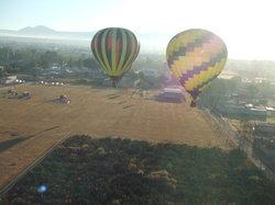 気球に乗ってテオティワカン遺跡観光