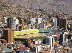 El estadio de futbol donde juegan en la altura. (22762650)