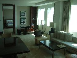 Our two bedroom suite lounge view.