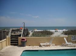 pool and beach access area