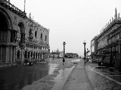"""Begining of """"Aqua Alta in San Marco"""