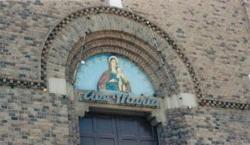 Catholic cathedral door