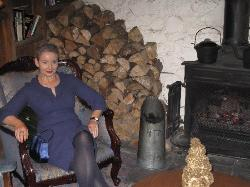 ME BY THE FIRE BEFORE GOING DOWN FOR CHRISTMAS LUNCH