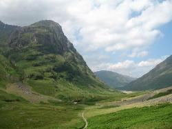 This is the mountain scenery in Glencoe