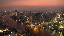 Stunning view of Bangkok by night