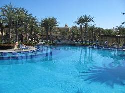 Pool area near Mexican restaurant