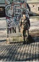 Piece of Berlin Wall in Ansbach Germany