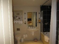 Our great bathroom in Room 201.