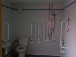 Disabled shower room - aka walk in freezer