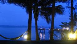 hammocks in the evening