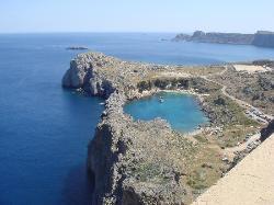 vue de Lindos depuis la citadelle