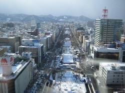 View of Odori Park