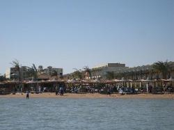 the hotel seen from the beach