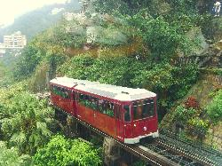 Peak Tram backwards is awesome