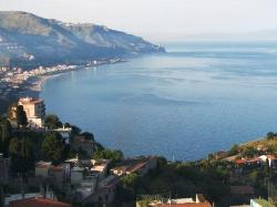 Cable Car Istasyonu'ndan Mazzaro Plajlari Manzarasi Taormina (23982700)