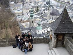 Salzburg - Kids at Hohensalzburg above Altstadt