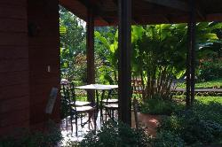 Front porch of room.
