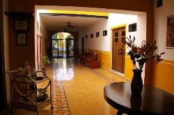 Hallway to courtyard and swimming pool