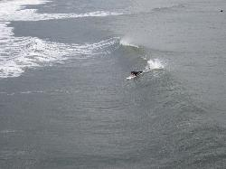 surfing seen from the patio