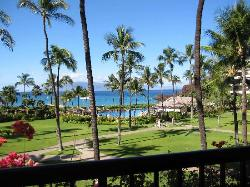 """View from my first """"Oceanfront"""" room, Sheraton Maui"""