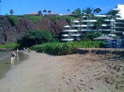 View of Sheraton Maui from the beach