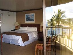 Interior of oceanfront room in Building 4, Sheraton Maui