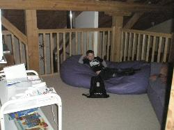 Mezzanine floor with Wii and games