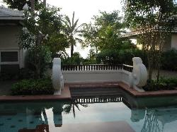 view from pool acces
