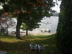 View of the lake from front entrance