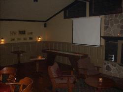 Pub, big screen, shuffle board