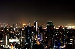 city view fron\m the bar