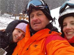 skiing with the kiddies