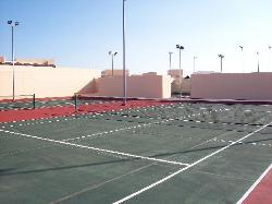 Tennis courts on the roof