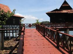 Raised boardwalk to our Chalet