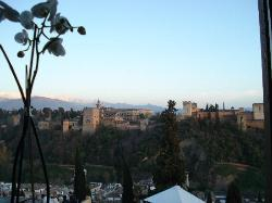 Breathtaking view of the Alhambra from our table