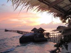Des couchers de soleil très romantiques