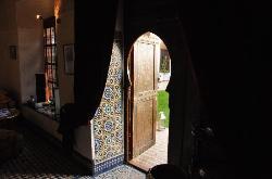 Dining Room door from the courtyard