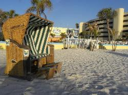 Free cabanas on the beach