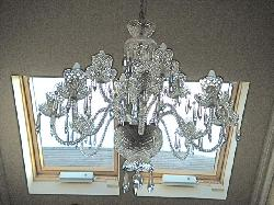Toni's Waterford Chandelier