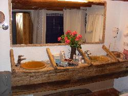bathroom in the garden room