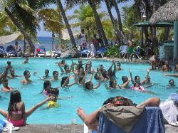 aquaerobics at main pool
