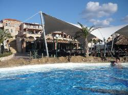 Pool and one of the restaurants