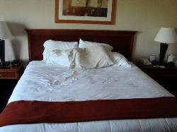 The king bed.