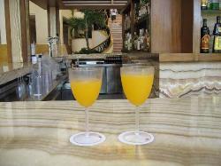 Mango martinis to go - made by our fav bartender